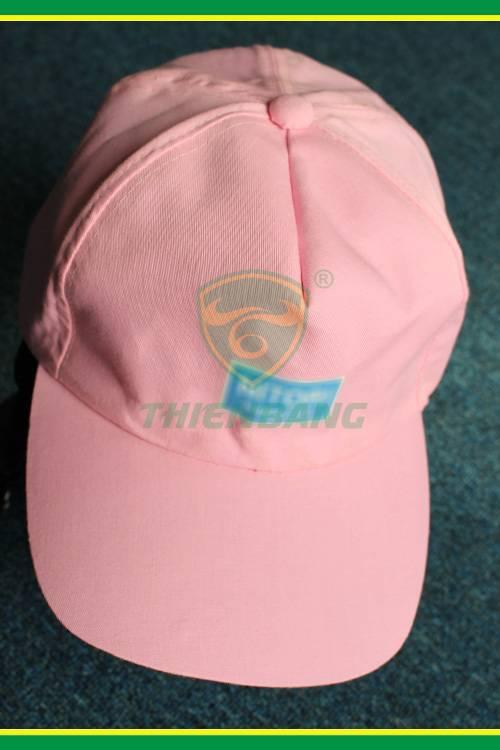 Mũ vải công nhân màu hồng