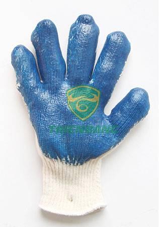 Găng tay sơn xanh