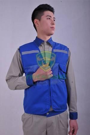 Áo ghile phản quang xanh