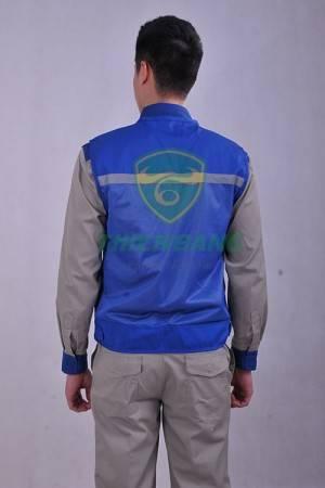 Áo ghile phản quang xanh mẫu 2