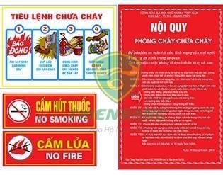 bảng nội quy tiêu lệnh phòng cháy chữa cháy
