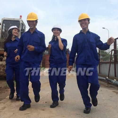 quần áo bảo hộ lao động cho công nhân màu xanh