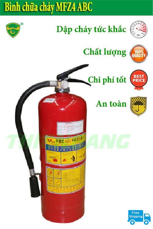 Bạn đã hiểu rõ Đặc điểm cấu tạo bình chữa cháy ABC 4kg