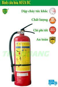 Bình cứu hỏa MFZ4 BC 4kg