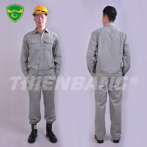Quần áo bảo hộ lao động ghi xám