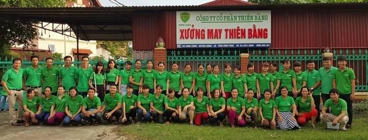 Xưởng may đồng phục công nhân Thiên Bằng