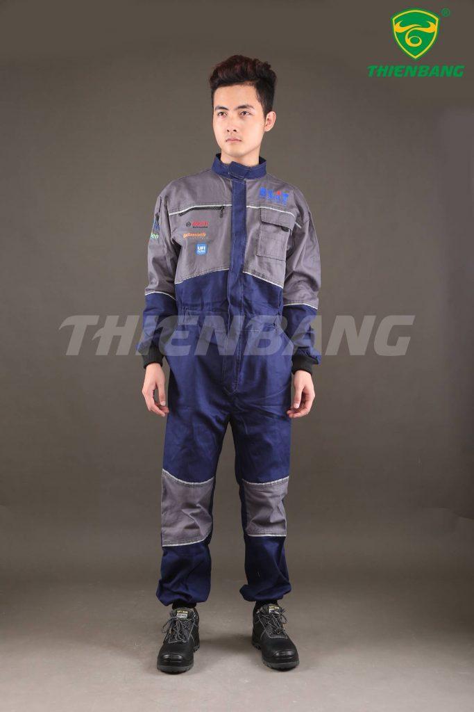 Quần áo bảo hộ theo mẫu liền thân