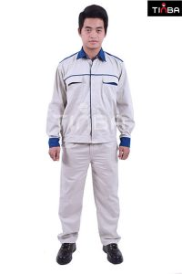 mẫu quần áo bảo hộ lao động màu trắng