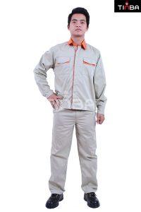 quần áo bảo hộ lao động đẹ tinba mau trắng