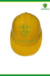 Mũ nhựa bảo hộ lao động Nhật Quang vàng có núm