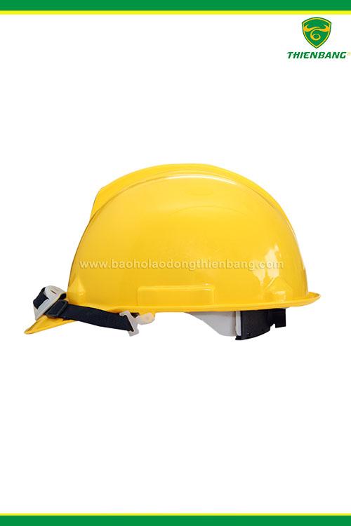 mũ bảo hộ Thùy Dương vàng có núm vặn