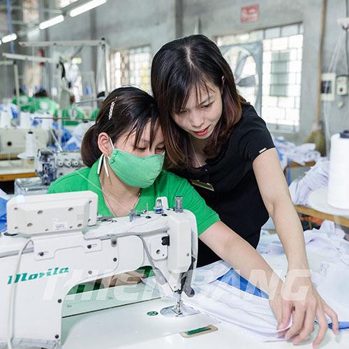 xưởng may quần áo bảo hộ Thiên Bằng