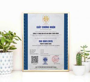 Bảo hộ lao động Thiên Bằng đạt chứng nhận ISO 9001:2015 về quản lý chất lượng